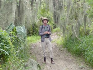 the author at Sabal Palm Audubon Sanctuary, Nov. 4, 2015
